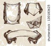 vintage ribbons vector | Shutterstock .eps vector #130183625