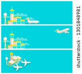 set of banners. airport... | Shutterstock .eps vector #1301848981