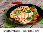 the concept of mexican cuisine. ... | Shutterstock . vector #1301868421