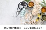 alternative medicine herbs and... | Shutterstock . vector #1301881897