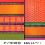 indian pattu sari vector... | Shutterstock .eps vector #1301887447