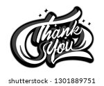 thank you lettering sign.... | Shutterstock .eps vector #1301889751