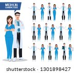 doctor and nurse vector... | Shutterstock .eps vector #1301898427
