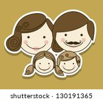 illustration of family with...