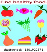 fruits and bakery sweets for... | Shutterstock .eps vector #1301922871