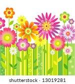 spring flowers | Shutterstock .eps vector #13019281