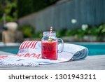 watermelon   fresh juice  ...   Shutterstock . vector #1301943211