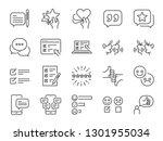 reviews line icon set. included ... | Shutterstock .eps vector #1301955034