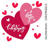 happy valentines day  text or... | Shutterstock .eps vector #1301963611