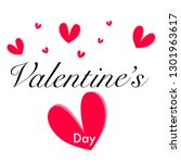 happy valentines day  text or... | Shutterstock .eps vector #1301963617