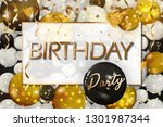 birthday elegant greeting card... | Shutterstock .eps vector #1301987344