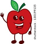 isolated apple cartoon... | Shutterstock .eps vector #130199135