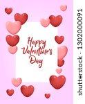 stock vector valentine's day... | Shutterstock .eps vector #1302000091
