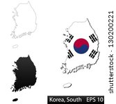 maps of south korea  3... | Shutterstock .eps vector #130200221