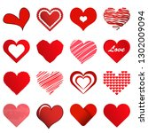 collection of different... | Shutterstock .eps vector #1302009094