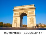 paris france oct 21  one of the ... | Shutterstock . vector #1302018457