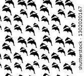 dolphins seamless pattern   Shutterstock .eps vector #1302020167