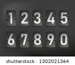flip board numbers in retro... | Shutterstock .eps vector #1302021364
