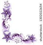 tendril flowers floral art... | Shutterstock . vector #1302022654