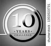 10 years challenge | Shutterstock . vector #1302023731