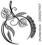 apple caterpillar health vegan... | Shutterstock .eps vector #1302027457