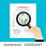 contract inspection concept... | Shutterstock .eps vector #1302056047
