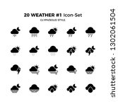 top 20 simple set of weather... | Shutterstock .eps vector #1302061504