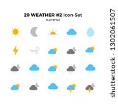 top 20 simple set of weather... | Shutterstock .eps vector #1302061507