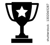 trophy icon on gray background. ... | Shutterstock .eps vector #1302065287