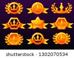 gold templates crown icons for...