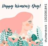international women s day.... | Shutterstock .eps vector #1302081841
