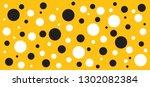 yellow  black and white polka...   Shutterstock .eps vector #1302082384