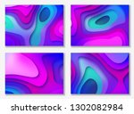 abstract color 3d paper art... | Shutterstock .eps vector #1302082984