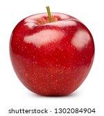 apple isolated on white. apple... | Shutterstock . vector #1302084904