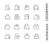 set of toaster related vector... | Shutterstock .eps vector #1302089494