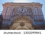 triumphal arch of lisbon | Shutterstock . vector #1302099841