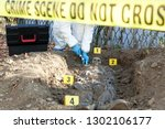 crime scene investigation   Shutterstock . vector #1302106177