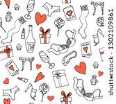 seamless vector pattern for... | Shutterstock .eps vector #1302109861