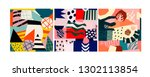 set of three abstract... | Shutterstock .eps vector #1302113854