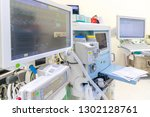 anesthesia machine in hospital... | Shutterstock . vector #1302128761