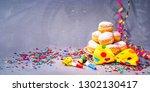 krapfen  berliner or donuts... | Shutterstock . vector #1302130417