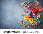 colorful carnival or party... | Shutterstock . vector #1302130441