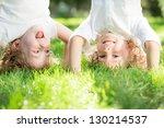 Happy Children Standing Upside...