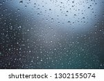 Rain Droplets On Window With...