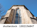 medieval castle exterior design.... | Shutterstock . vector #1302156847