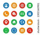web icon set flat design. set... | Shutterstock .eps vector #1302160981
