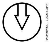 arrow icon down | Shutterstock .eps vector #1302162844