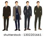 Vector Of Young Men In Various...