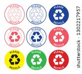 Please Recycle Sticker...