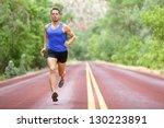 Running Athlete Man. Male...